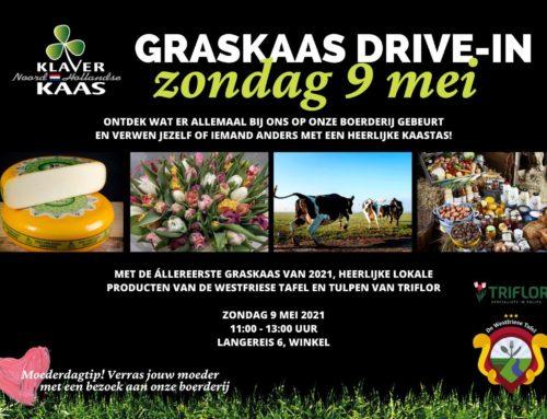 Zondag 9 mei een graskaas drive-in!